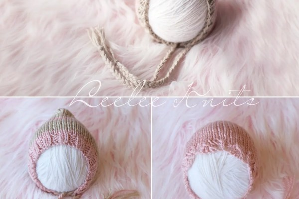 Set of Three Newborn Baby Bonnet Patterns