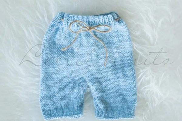 Newborn Baby Knit Shorts Pattern