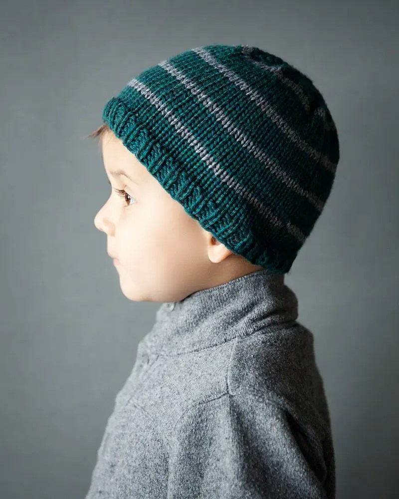 Toddler Boy Beanie Knitting Pattern