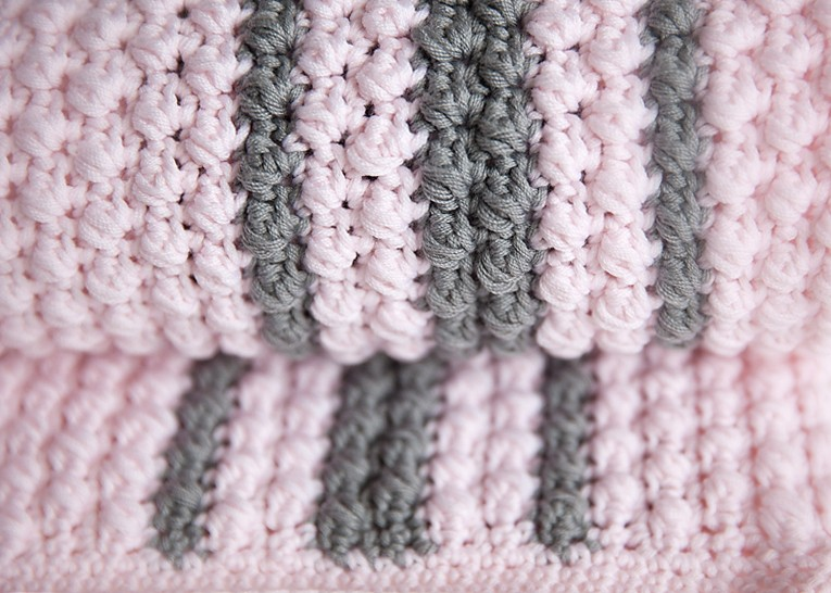 Bobbles and Stripes Baby Blanket Pattern