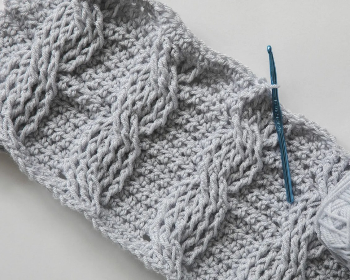 This Pattern Is A Simple Repeat Of A 6 Stitch Cable And Is A Great Project  For Anyone New To Crocheting Cables