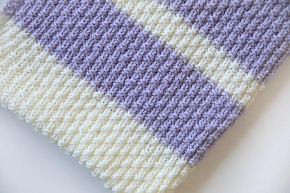 Knit Baby Blanket Pattern Easy : Leelee Knits   Blog Archive Easy Knit Baby Blanket Pattern - Leelee Knits