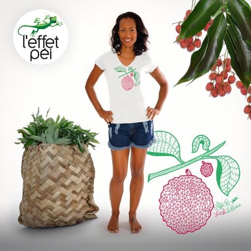 T-shirt Letchi La Réunion