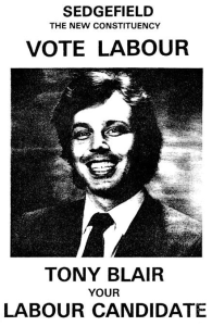 Tony Blair poster 1983. He knew a thing or two about ignoring party members