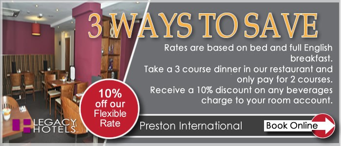 PRESTON INTERNATIONAL HOTEL Preston 3 for 2