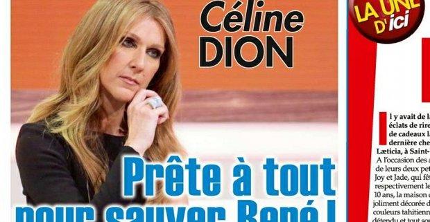Celine Dion prete à tout pour sauver Rene Angelil
