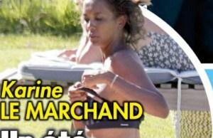 Karine Le Marchand un ete morose sans Lilian Thuram