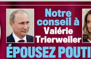 Valérie Trierweiler en couple avec Vladimir Poutine