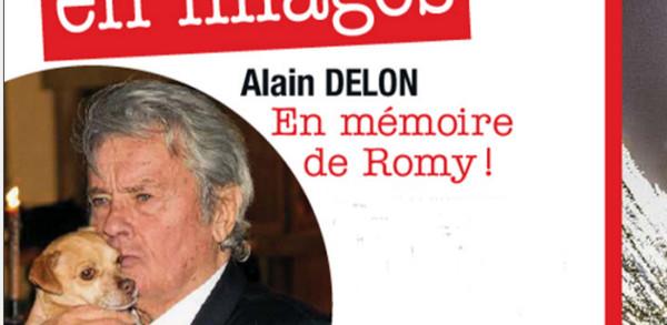 Alain Delon, ému sur les terres de Romy Schneider (photo)
