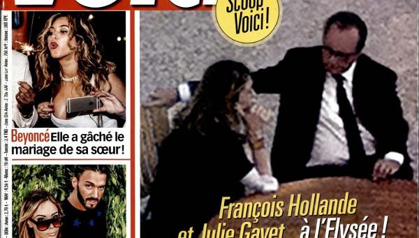 Julie Gayet et François Hollande, premières photos à l'Elysée dans Voici