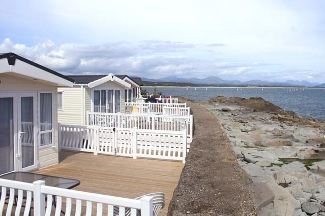 Caravan park with sea views