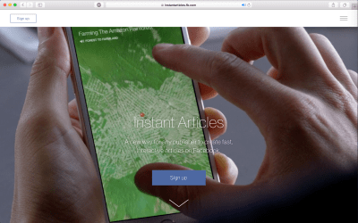Sign up for Instant Articles