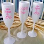 Taças de acrilico personalizadas Chá da Roberta
