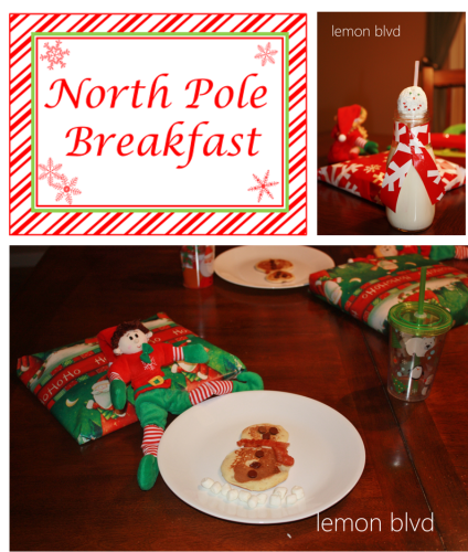 North Pole Breakfast - lemon blvd