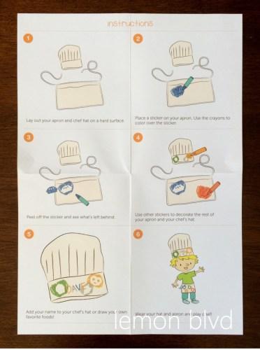 lemon blvd - Kiwi Crate Review - chef instructions