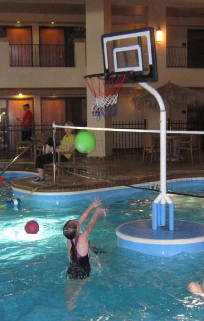 shooting a basket