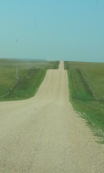Badlands gravel road