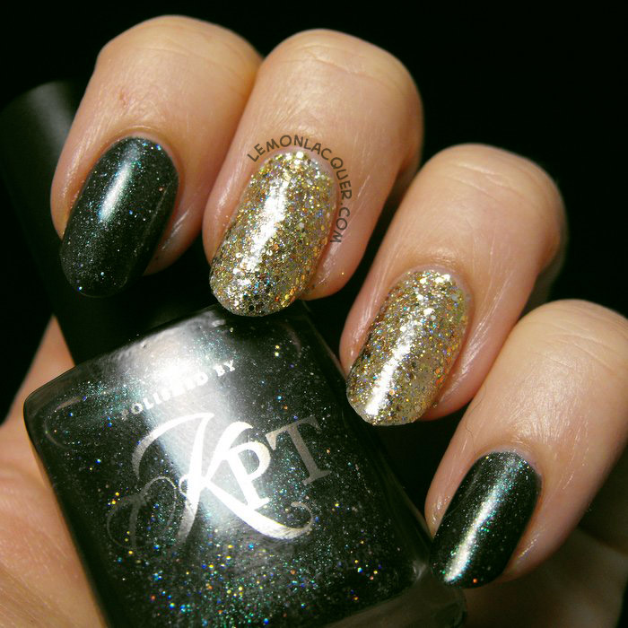 notd with il etait un vernis - Live Love Laugh and Polished by KPT - Wreath for the Stars
