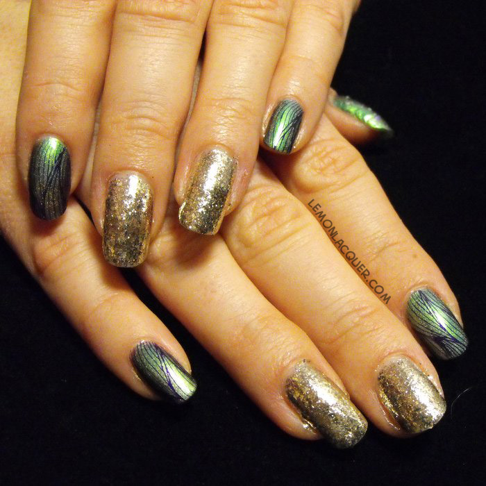Party Nails with ILNP Mutagen (H) and Cique Colors Mirror, Mirror