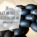 DIY Black and Gold Mini Easter Egg Garland