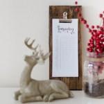DIY Rustic Calendar Stand
