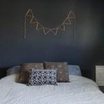 DIY Copper Pipe Bunting (and Bedroom Sneak Peak!)
