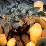 Spooky Floral Centrepiece for Halloween- Black and White Blog Hop!
