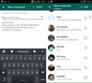 Cara membuat broadcast WhatsApp
