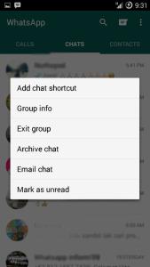 Membuat shotcut percakapan WhatsApp
