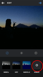 Manage Photo Filter Instagram