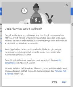Menghentikan history web dan app