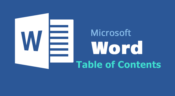 how to add a table of content word