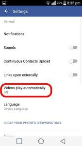Pilihan Video Play automatically