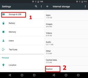 cara masuk file manager android