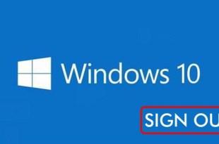 cara sign out windows 10 dengan mudah