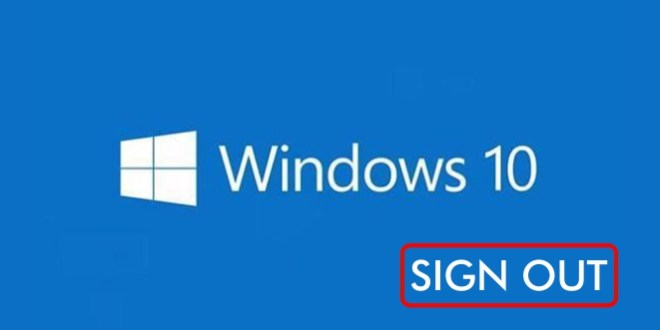 cara sign out windows 10 dengan mudah