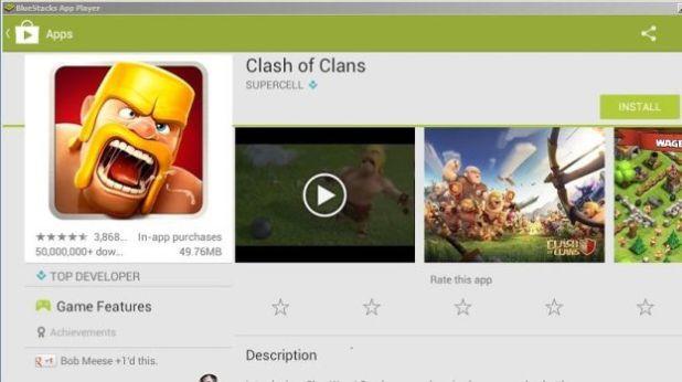 Install Clash of Clans COC pada PC