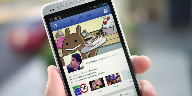 facebook android hand