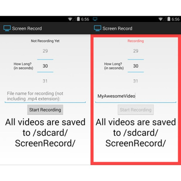 screen record android