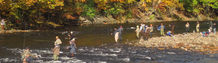 Salmon river with flechemuller for Salmon fishing near me