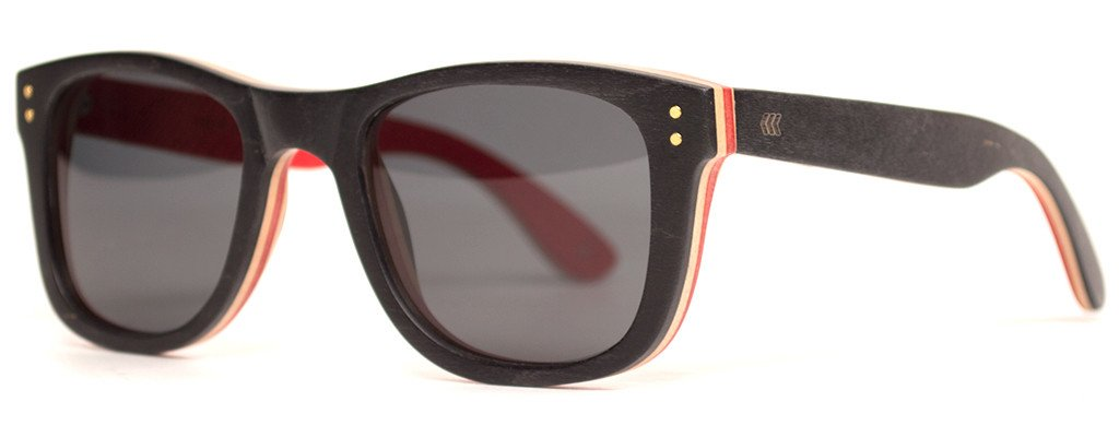 Daytrip-Cassette-Skateboard-Wood-Sunglasses-Wooden-Eyewear-Black-Red-Angle
