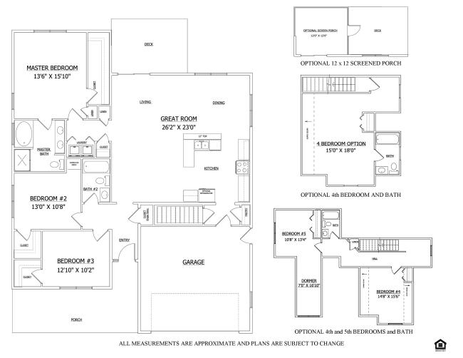 Floor plan the ashley bower 39 s landing lenape builders for Share builders plan