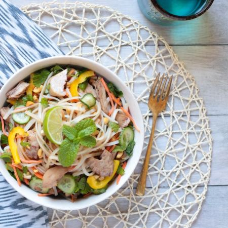 Five Spice Turkey Turkey Rice Noodle Salad
