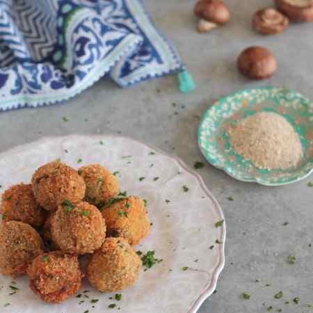 Mushroom and Goat Cheese Croquettes