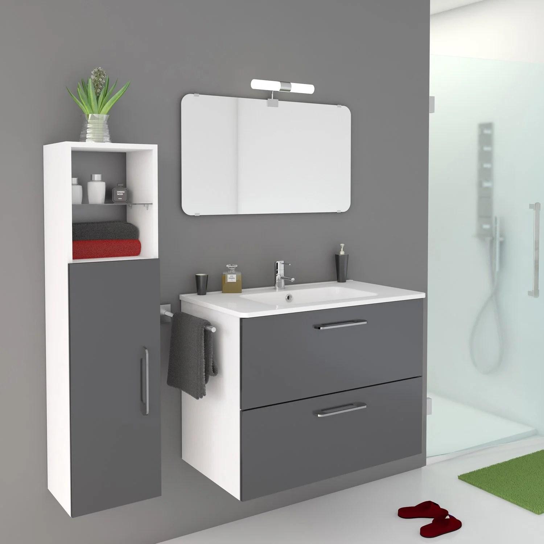 meuble-de-salle-de-bains-de-80-a-99-gris-argent-happy Incroyable De Salon De Jardin En Teck Leroy Merlin Conception