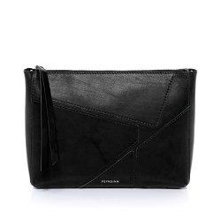FEYNSINN-pochette-clutch-JEMMA-PUZZLE-petit-sac-bandoulire-lgant-sac--main-de-soire-noir-en-cuir-vritable-0