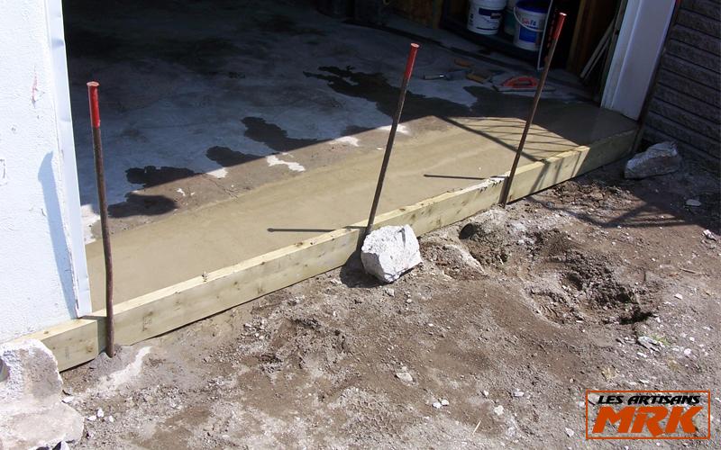 R paration de ciment les artisans mrk - Seuil de porte de garage en beton ...