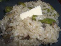 Risotto asperges champignons