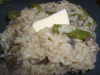 Risotto asperges champignons