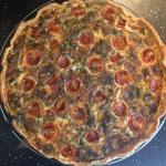 quiche thon-tomates-roquette